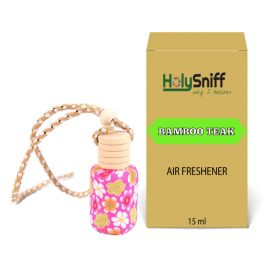 Bamboo Teak hanging Air Freshener for Car(15 ML)