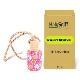 Sweet Citrus hanging Air Freshener for Car(15 ML)