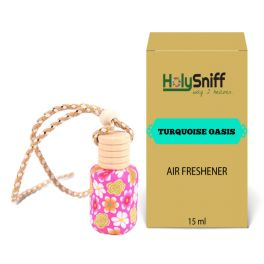 Turquoise Oasis hanging Air Freshener for Car(15 ML)